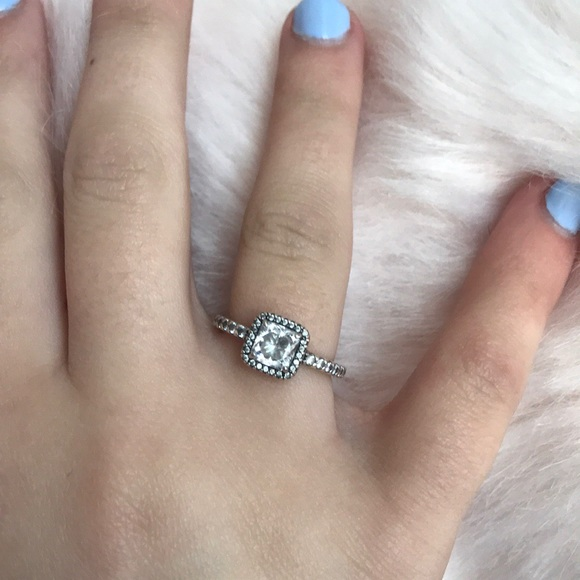 97b8f839b6e Pandora Timeless Elegance Ring, Clear CZ